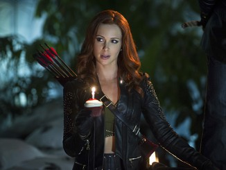 "Arrow -- ""Draw Back Your Bow"" -- Image AR307a_0072b -- Pictured: Amy Gumenick as Carrie Cutter/Cupid -- Photo: Diyah Pera/The CW -- © 2014 The CW Network, LLC. All Rights Reserved."